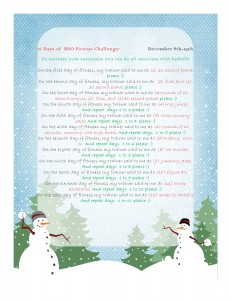 12 days of fitness H2O