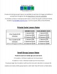 2014 Private lesson & small group rates