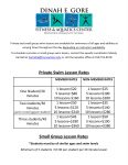 2015 Private lesson & small group rates