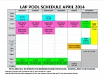 April 2014 lap pool sched