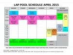 April 2015 lap pool sched