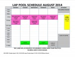 August 2014 lap pool sched