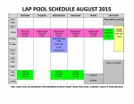 August 2015 lap pool sched