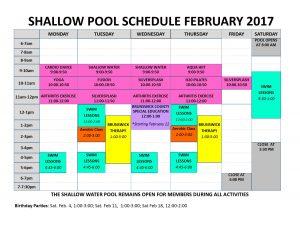 Feb 2017 shallow pool