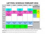 Feb'16 lap pool schedule