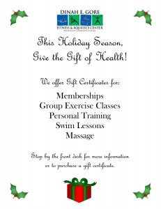 Give the Gift of Health flyer