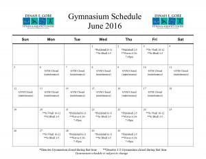 Gymnasium Calendar june