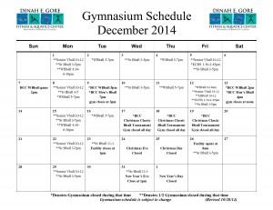 Gymnasium calendar