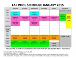 January 2015 lap pool sched