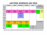 July 2015 lap pool sched