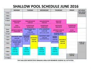 June 2016 shallow pool sched