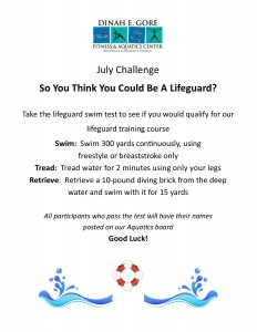 Lifeguard Challenge