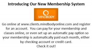 Mindbody cards for members