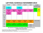 November 2014 lap pool sched