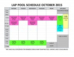 OCTOBER 2015 lap pool sched