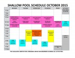 OCTOBER 2015 shallow pool sched