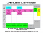 October 2014 lap pool sched