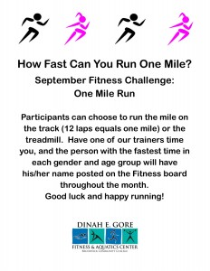 One Mile Run flyer
