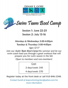 Swim Team Boot Camp 2015