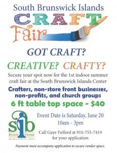 craft fair vendor soliciate flier