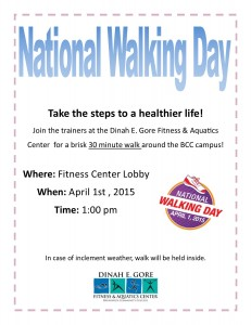 walking day flyer for promotion