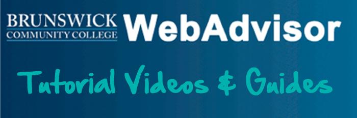 webadvisor tutorials brunswick community college