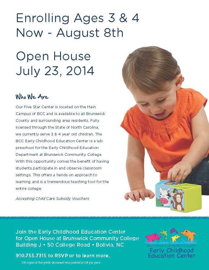 Early Childhood Center Enrolling Flyer