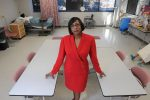 Brunswick Community College Assistant Vice President for Economic and Workforce Development Velva Jenkins in a BCC nursing classroom. Jenkins knows that family friendly workplace practices not only benefit workers and families, they also help businesses stay competitive.
